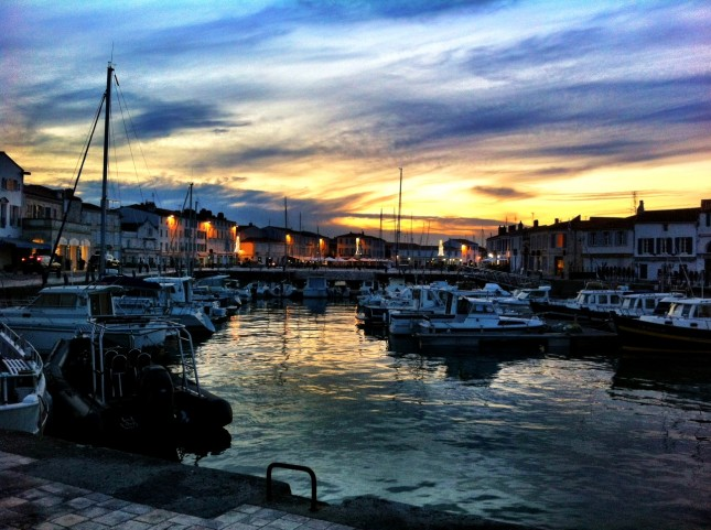 The Harbour of St. Martin de Ré at Sunset, île de Ré