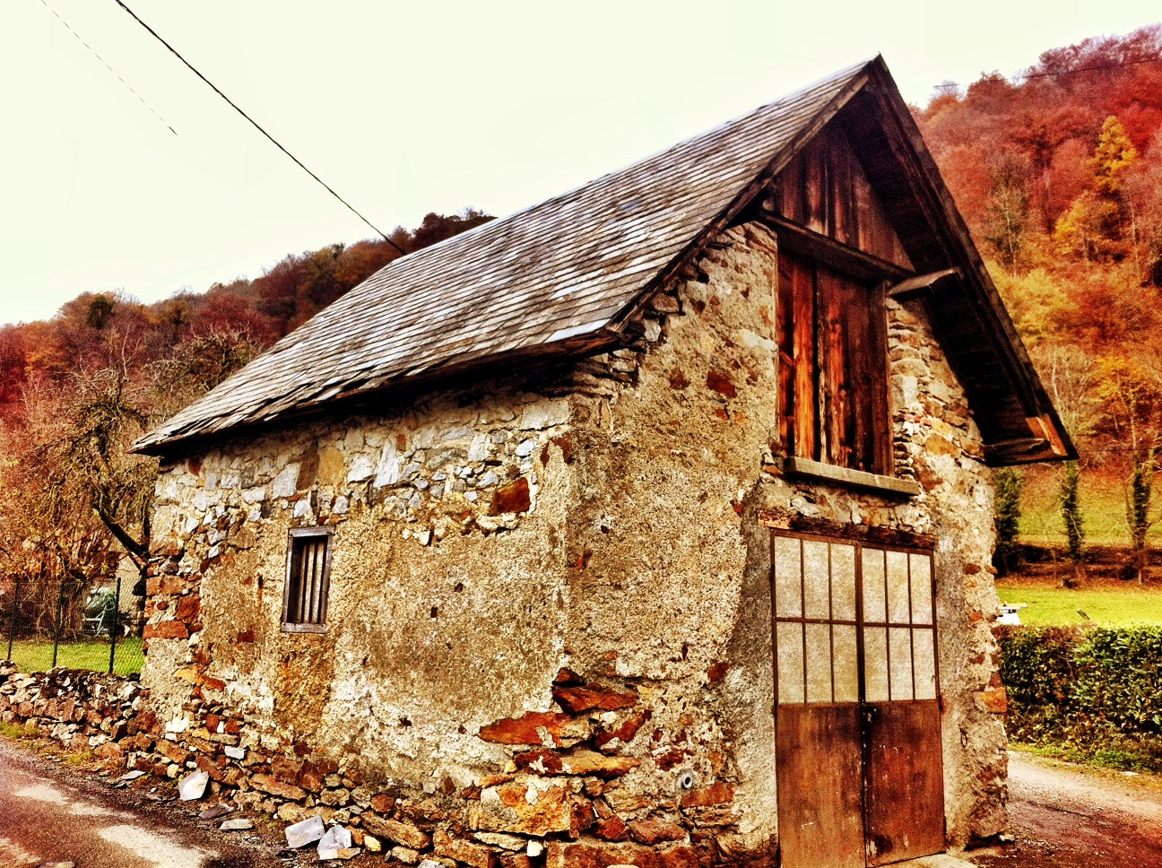 A Valley of Rustic Buildings