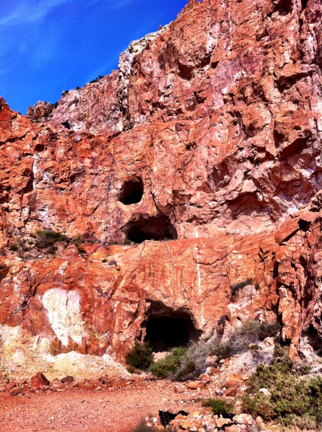 Old Mine Tunnels Revealed By Later Open-Cast Workings