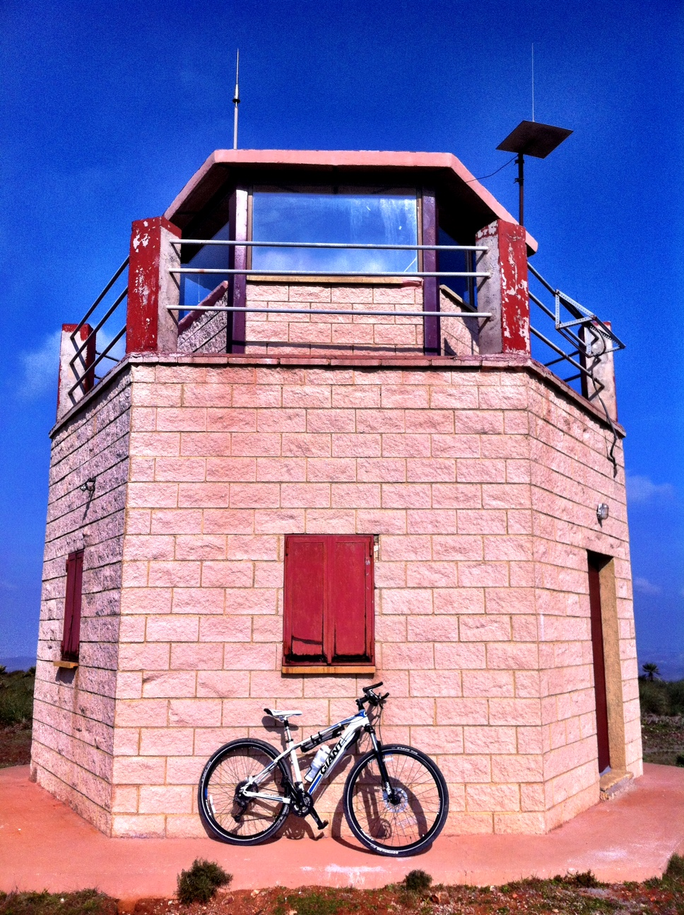 Large lookout tower believed to be used for hunting purposes, sited on top of the Cerro Rellano, Cabo de Gata, Spain