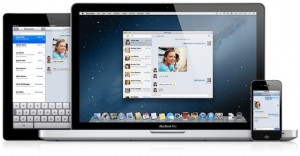 OS X Mountain Lion - Messages App Unified Across Devices