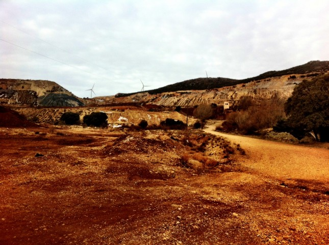 A view of the mine workings at Ojos Negros, Aragon