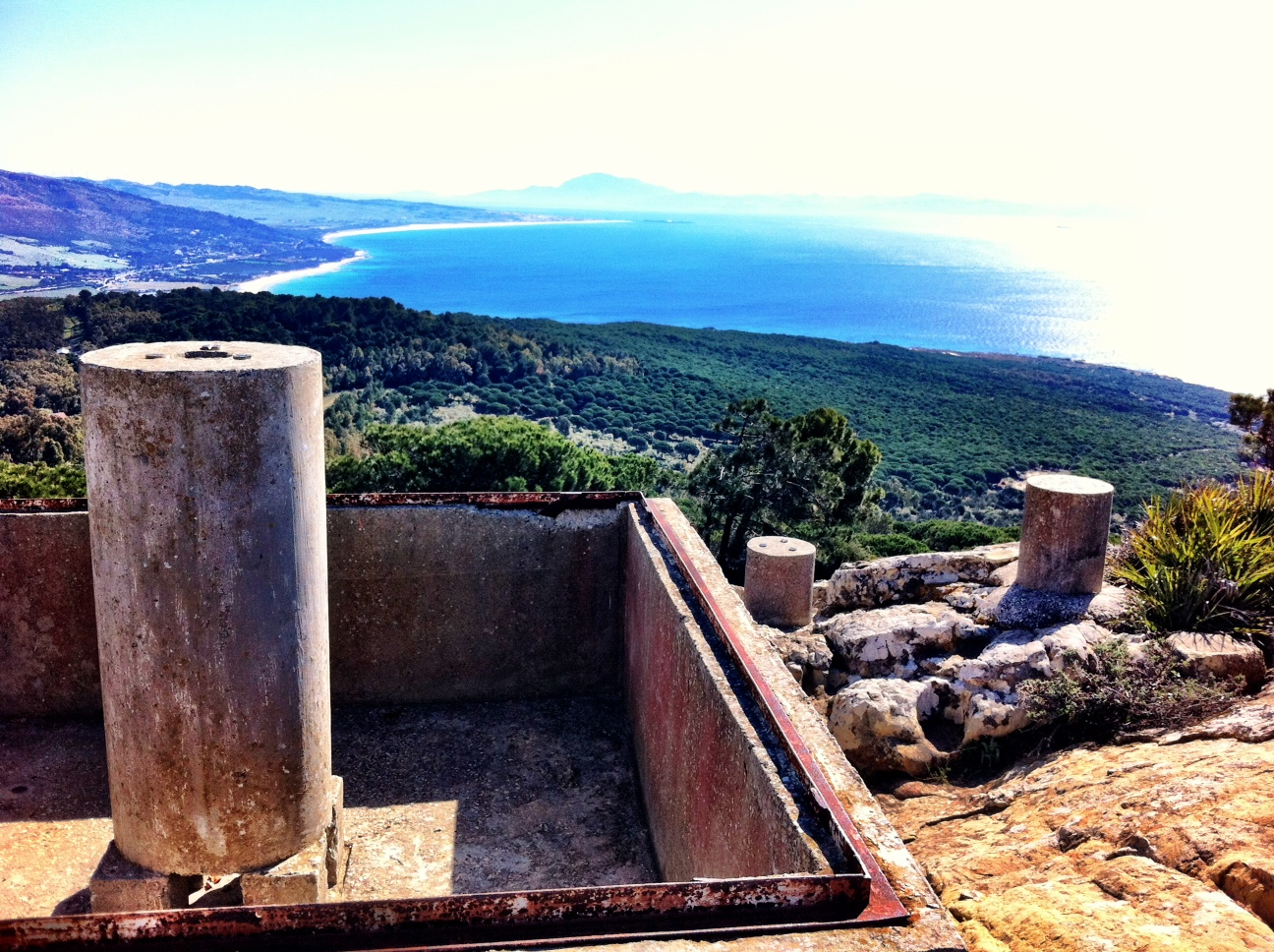 A trig point, Palomo Alta near Tarifa