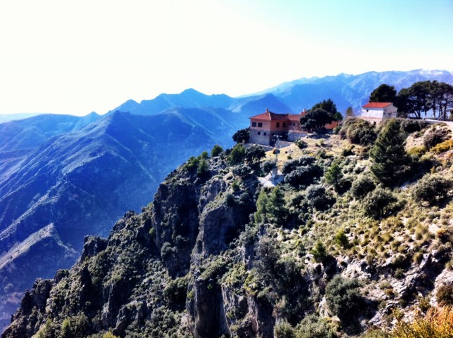 A Dramatic, Hill Top View, Reminiscent of a Far-Away Monastery (it was a Restaurant) - near Otivar, Andalucia