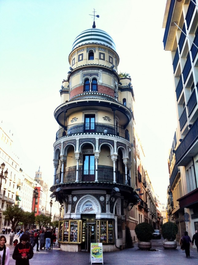Interesting architecture on the streets of Seville