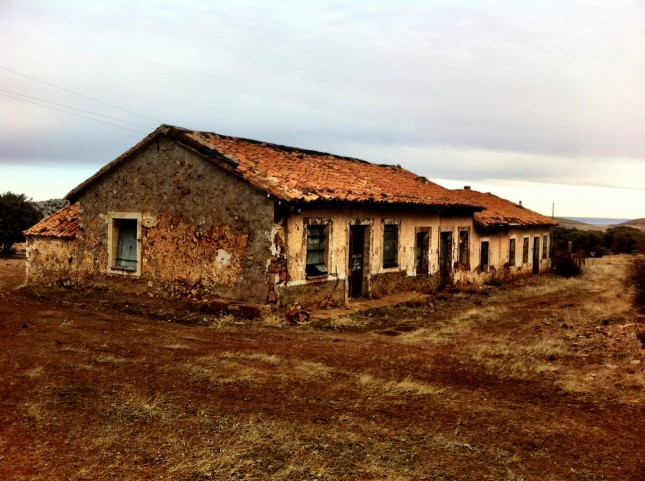 Housing at the mines of Ojos Negros, Aragon
