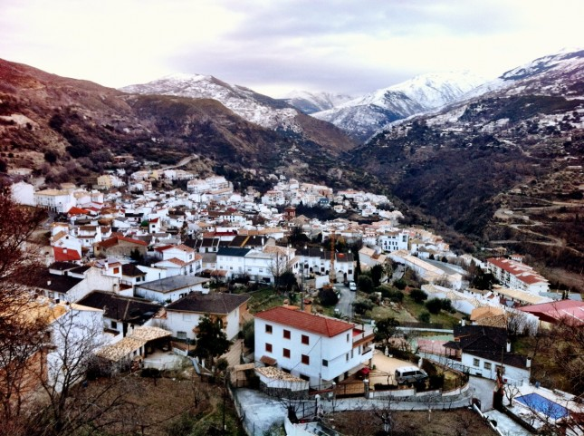 The Town of Güéjar Sierra, Sierra Nevada, Spain