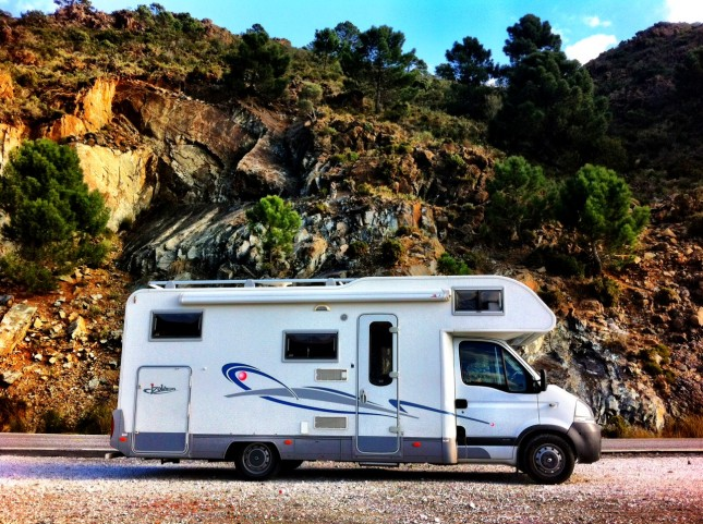Our Motorhome, Taking a Rest During the Drive Through the Mountains