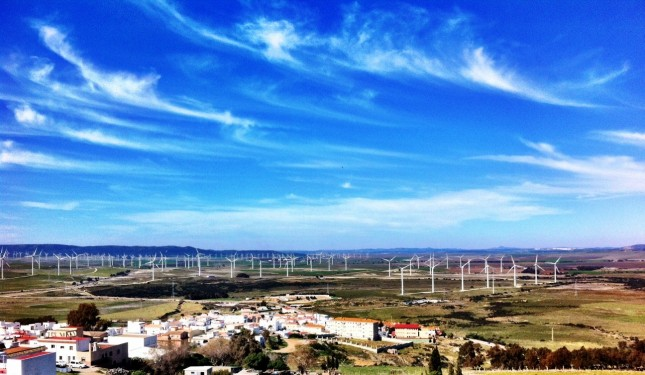 One of Europe's largest wind farms, near Tarifa