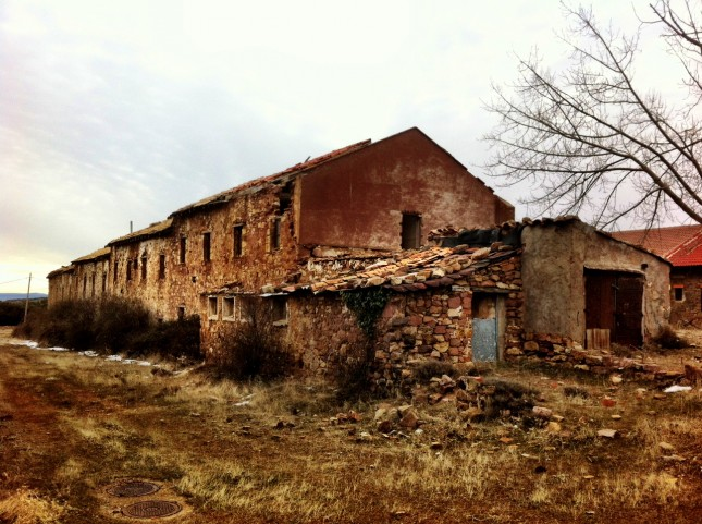 Old Workers Cottages at the Mines of Ojos Negros, Aragon