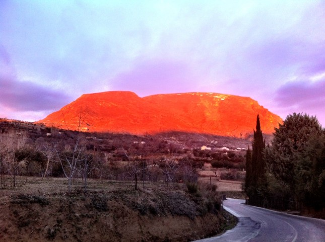 It might look like Ayres Rock (Uluru), but this is Güéjar Sierra