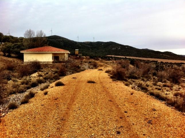 The end of the line of the Via Verdes de los Ojos Negros, Aragon