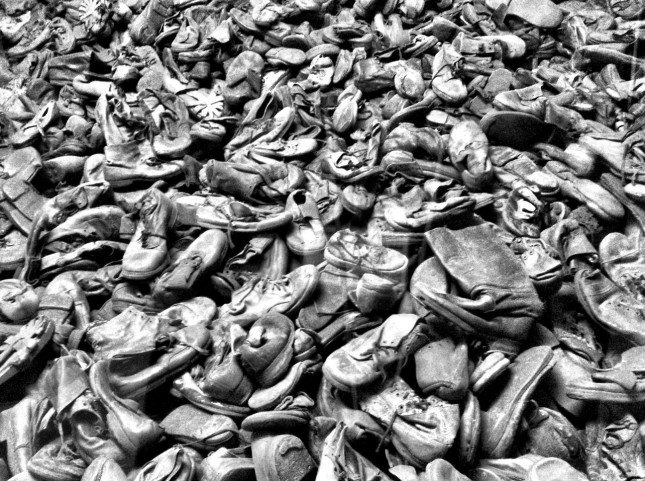 80,000 pairs of shoes in one display, a fraction of the items recycled by the Nazi's at Auschwitz