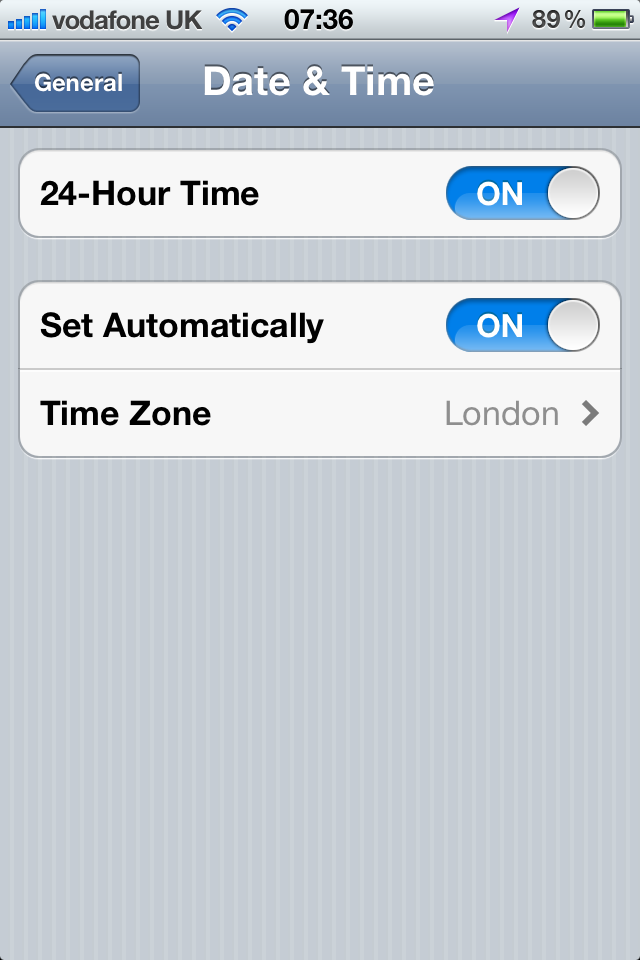 iPhone/iPad Has Wrong Timezone When Date/Time is Set Automatically
