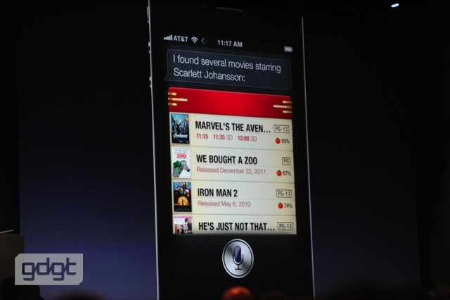 Siri helping to find movie information