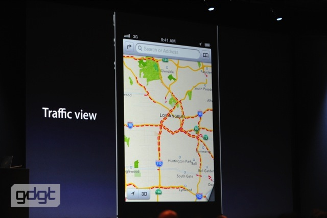 Maps App, updated to include Apple's own cartography and traffic alerts