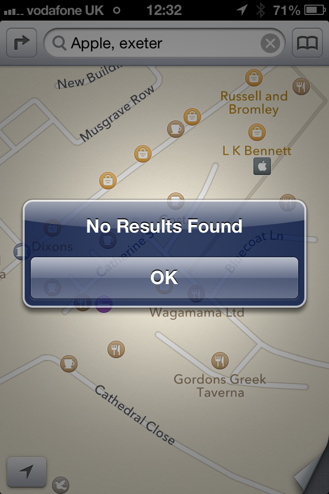 Apple's iOS 6 Maps App Can't Find Itself