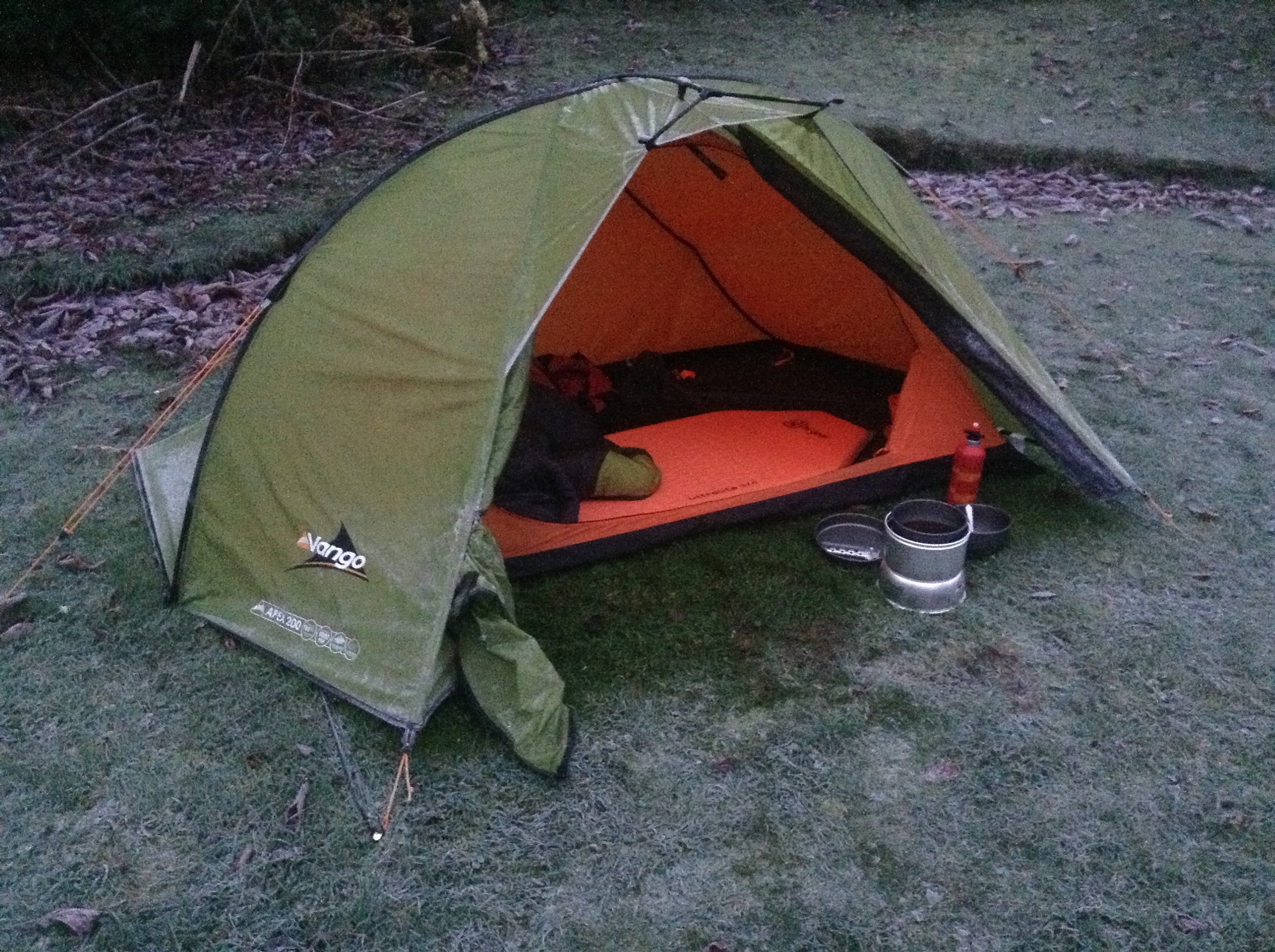 Microadventure – Camping in the Garden at -4 Celsius