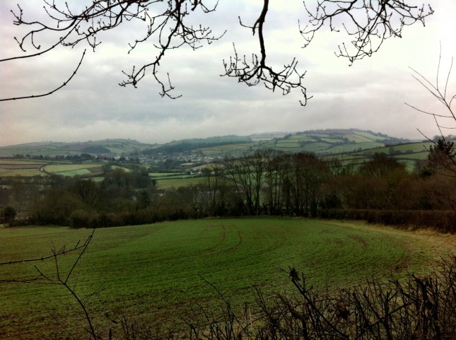 Looking back towards Wiveliscombe