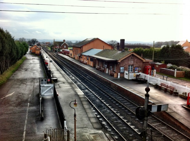 Bishops Lydeard Railway Station on the West Somerset Steam Railway