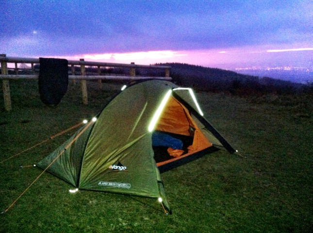 First Light WIld Camping on the Quantocks