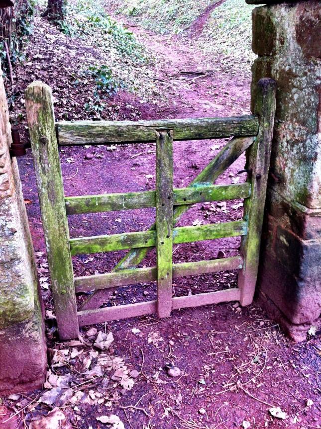 Rustic Gateway in Coombe Florey