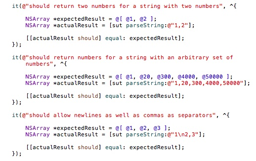 TDD Exercise – A StringCalculator in Objective-C