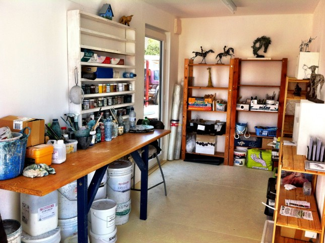 Mel's studio