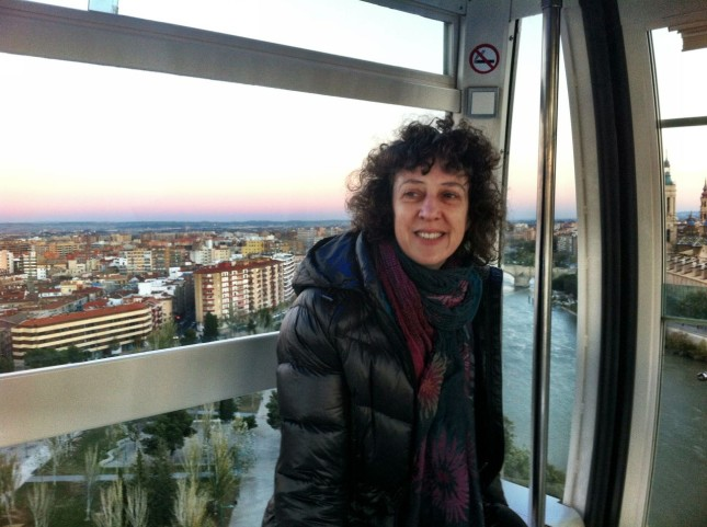 Mel enjoying the view of Zaragoza