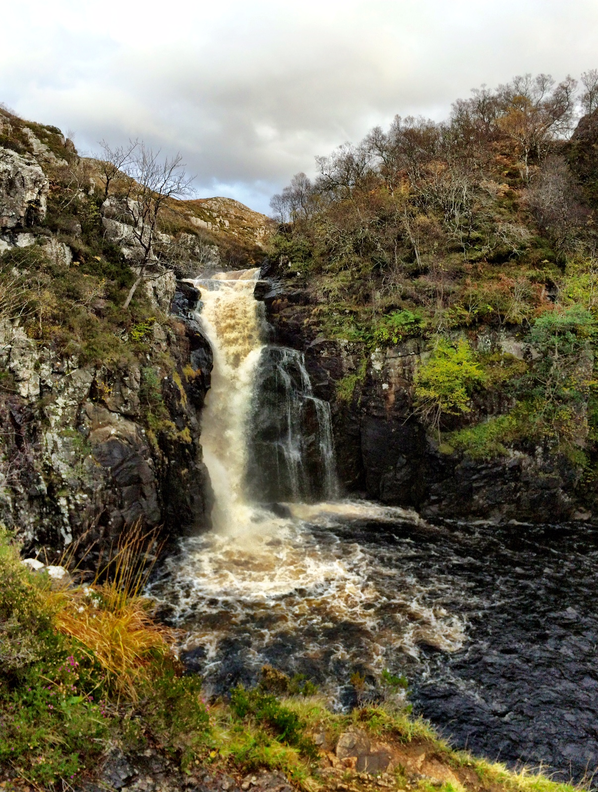The Falls of Kirkaig and the Hills of the Assynt