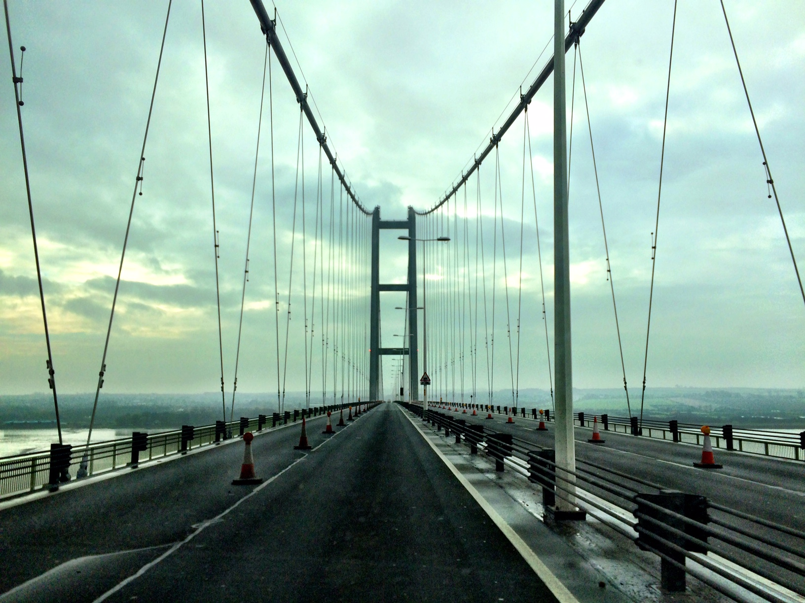 The Humber Bridge, Lincolnshire Wolds, and The Wash