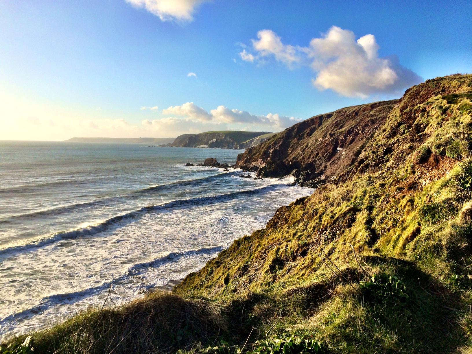 Views over The Devon Coastline and Dartmoor